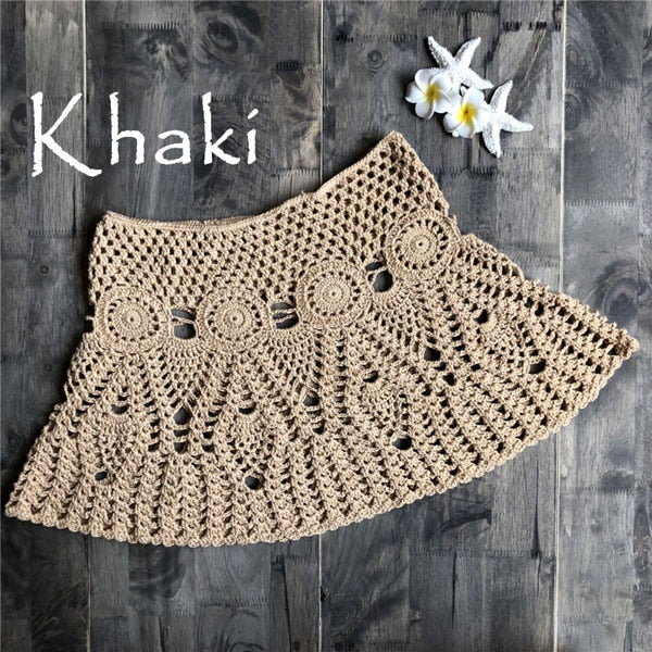 Sexy Crochet Tassel Beach Skirt