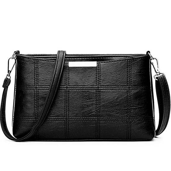 60s Style Crossbody Leatherette Bag