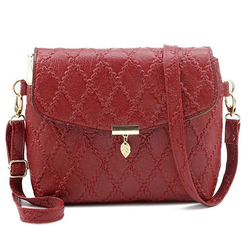 Diamond Leatherette Crossbody Bag