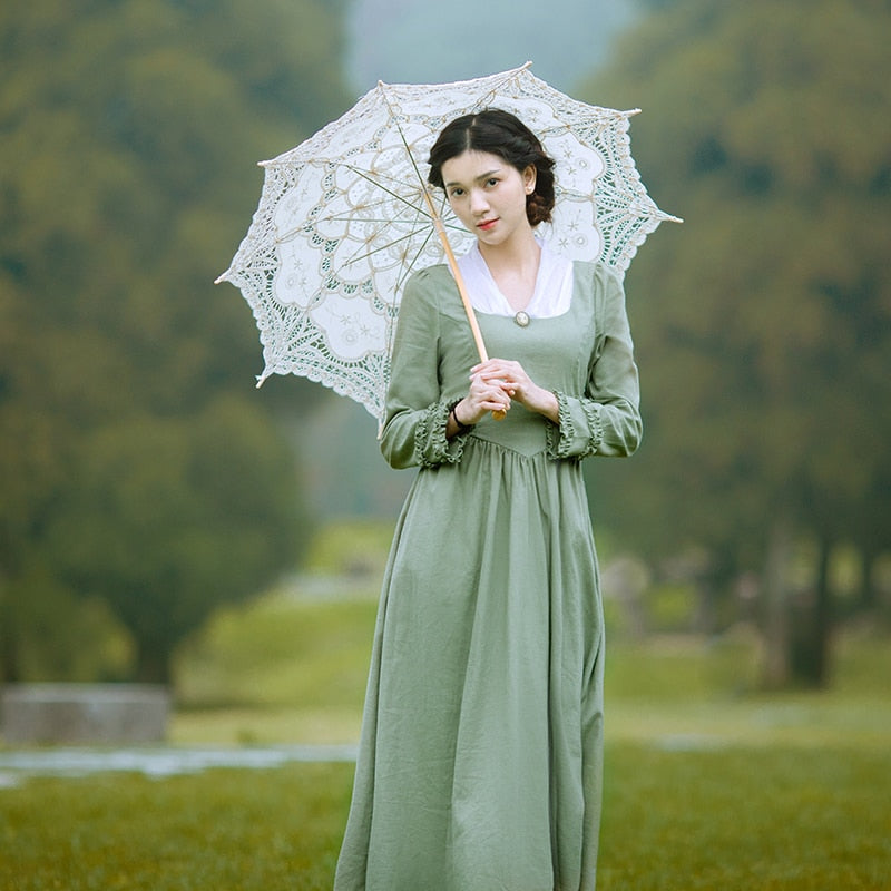 Vintage Light Green Long Dress
