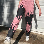 High-Waist Fire Flare Pants