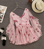 Flowery Embroidered Summer Dress