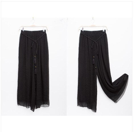 High Waist Loose Flare Pants
