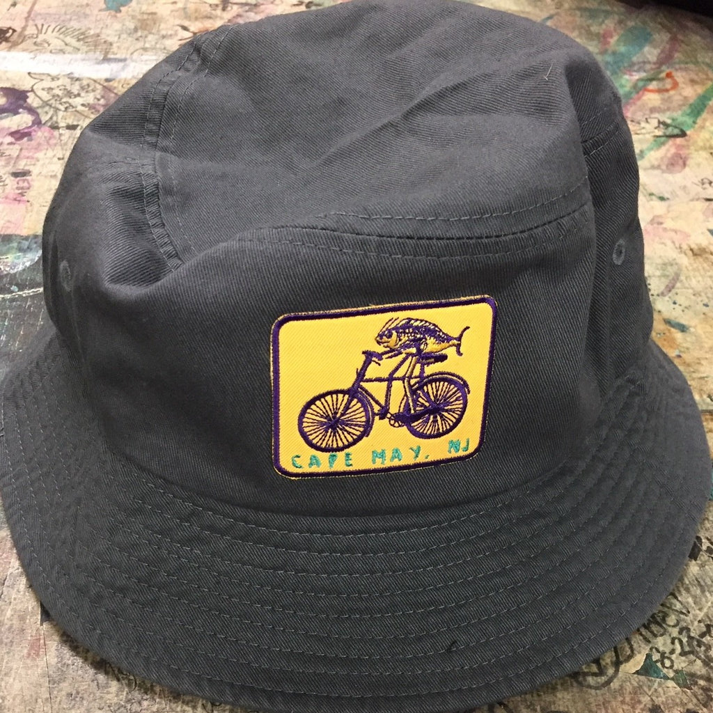 Fish on a Bike Bucket Hat