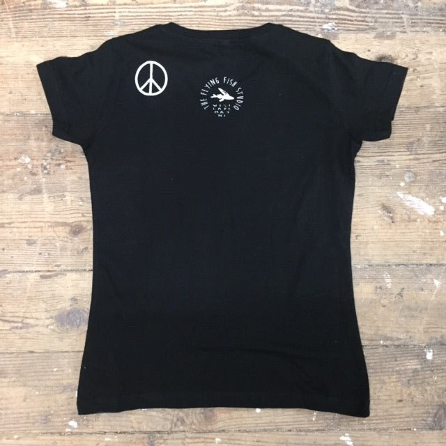 IMAGINE PEACE on ladies v-neck