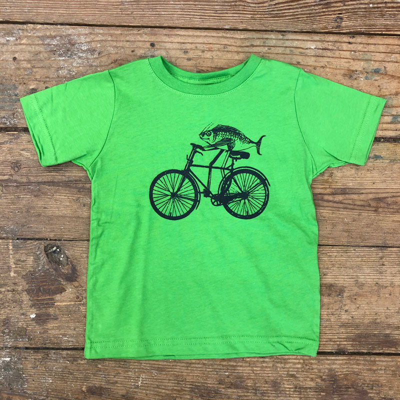 Fish on Bike Kids Tee