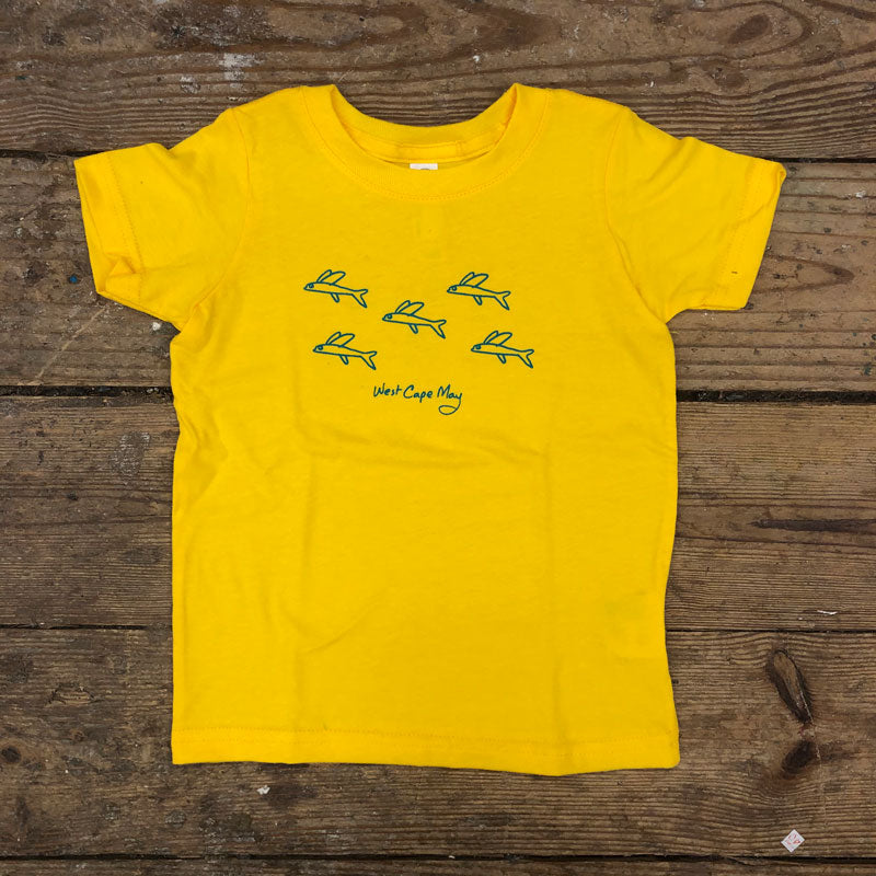 Flying Fish on Yellow Kids Tee