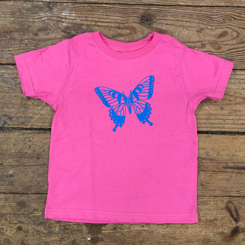 Swallowtail Butterfly on Pink Toddler Tee