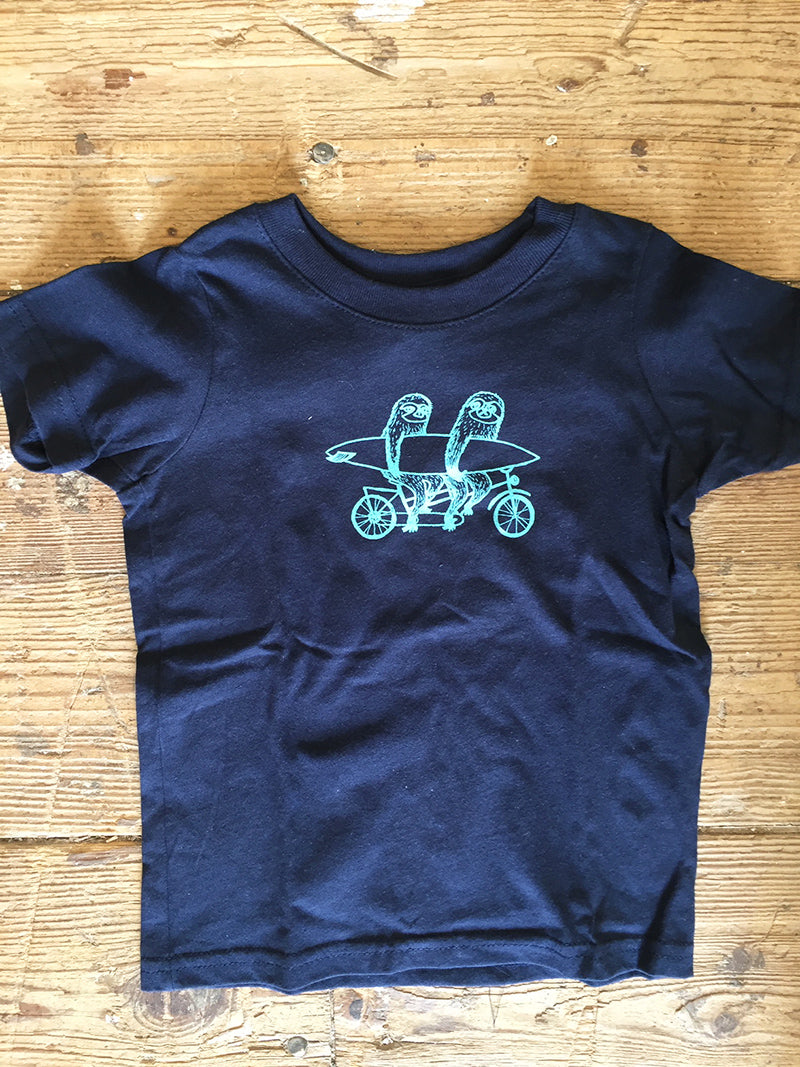 Sloths on Tandem Toddler Tee