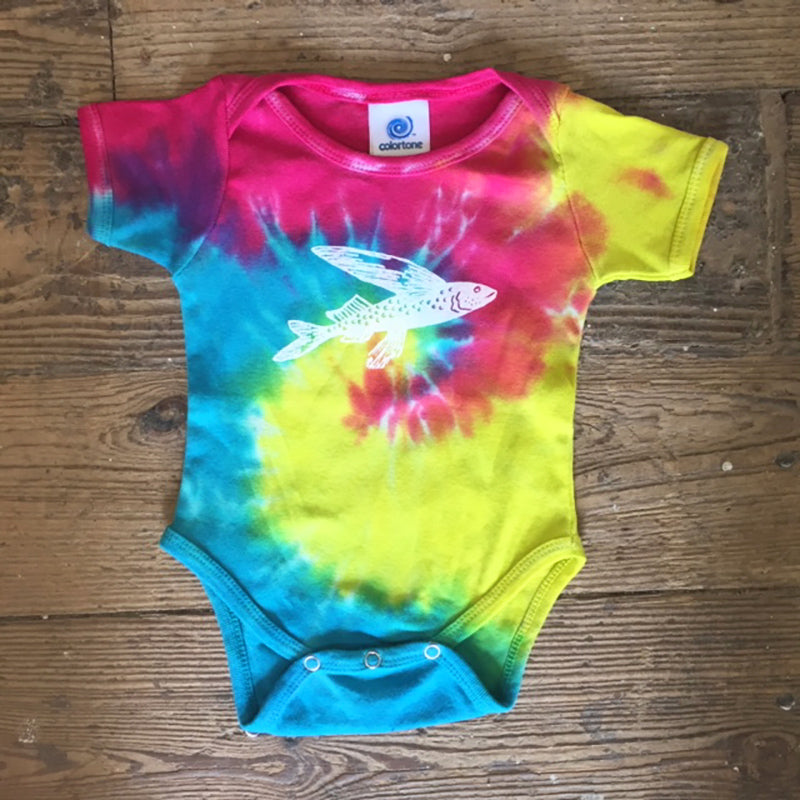 Flying Fish Tie Dye Onesie