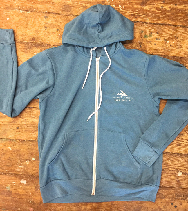 Flying Fish Unisex  Full Zip Hoodie