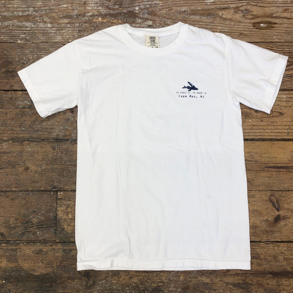 Compass Tee on White