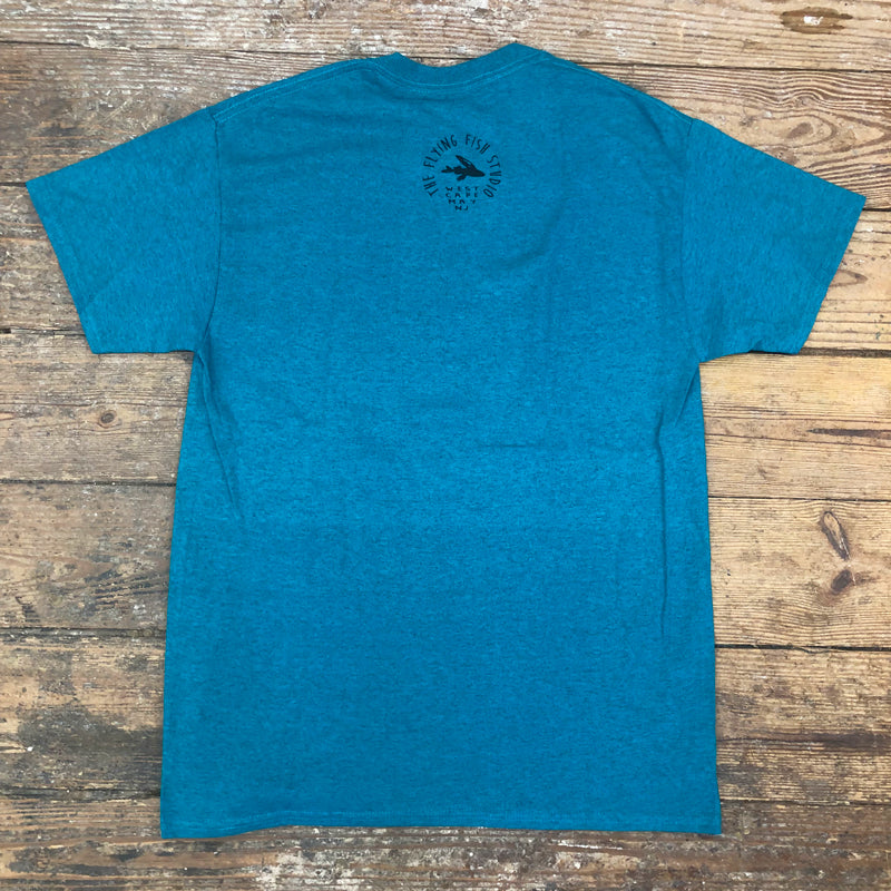 Bonefish Short Sleeve Tee on Galapagos Blue