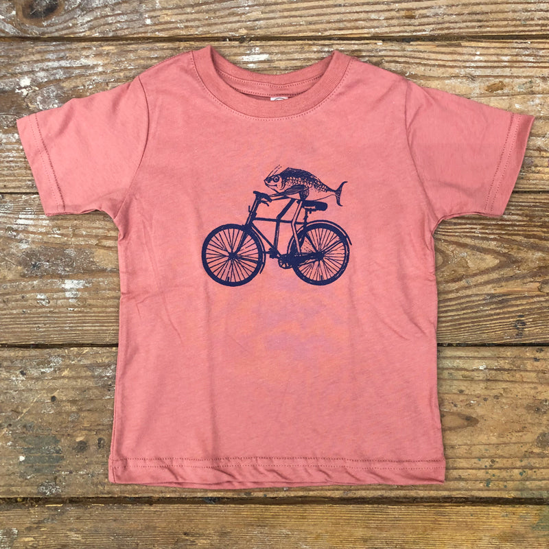 Fish on Bicycle Kids Tee