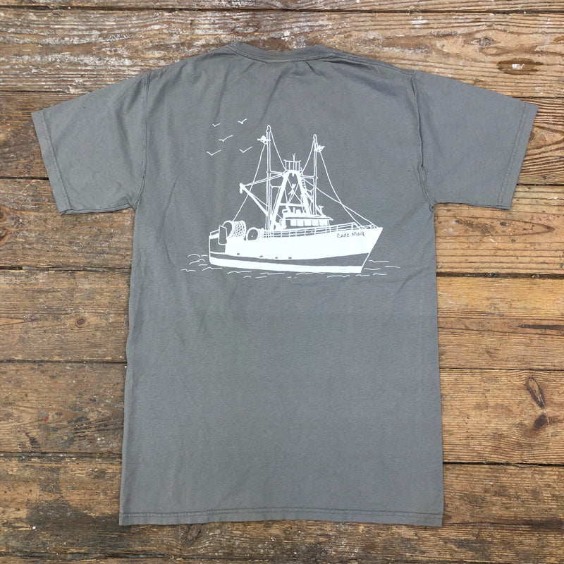 Scallop Boat on Granite Grey
