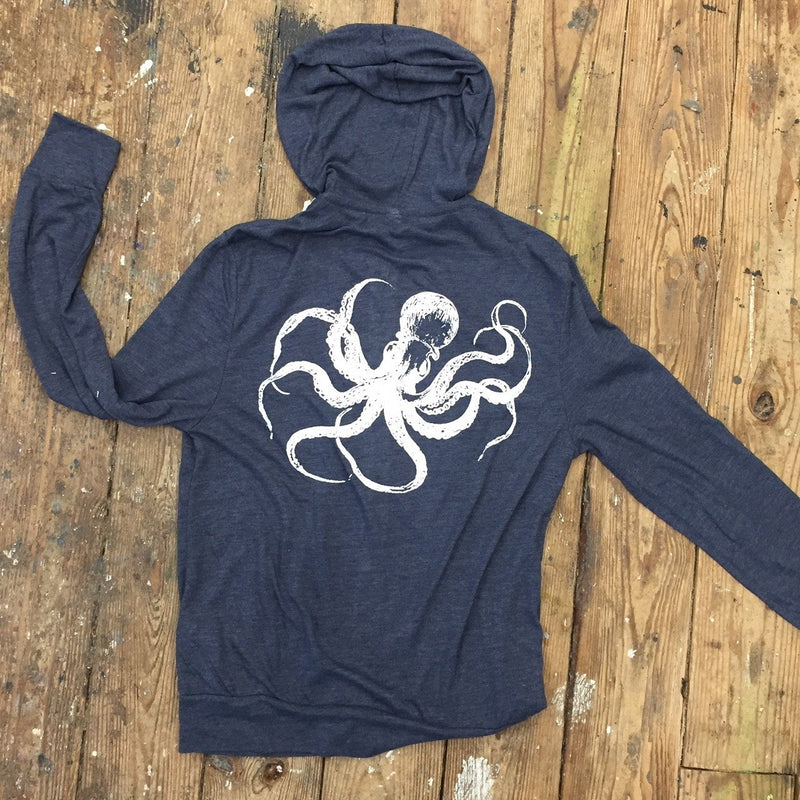 Vintage Octopus Zip Front Hooded Tee