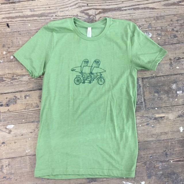 Sloths on Tandem adult tee