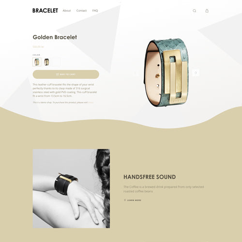 Moist Shopify Theme - Demo Bracelet