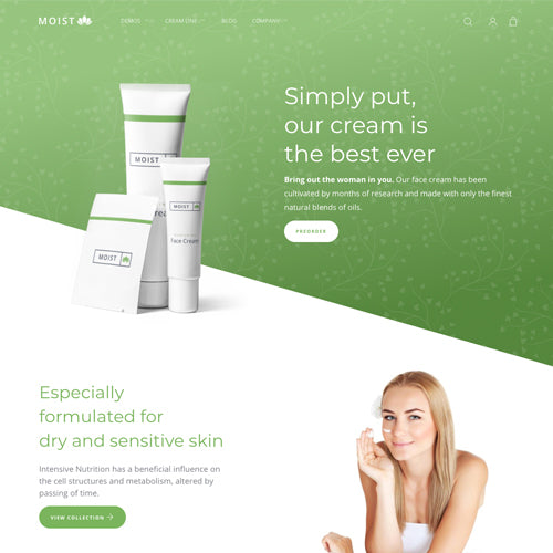 Moist Shopify Theme - Demo Original