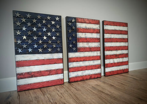 """The American""  3 piece design wall art"