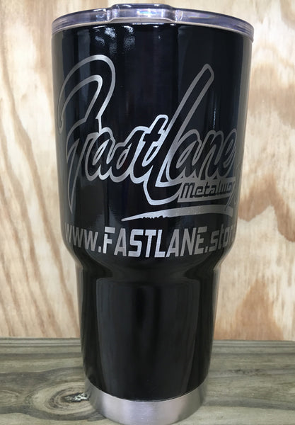 Laser engraved 30oz Powder coated tumbler