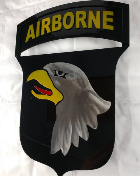 101rst Airborne Infantry Metal patch