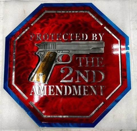 Protected by the 2nd Amendment Medal Sign