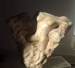 Alabaster and marble sculptures