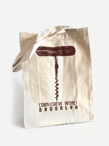 Corkscrew Tote Bag - Corkscrew Wines Brooklyn