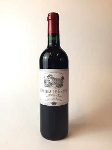 Chateau Le Bergey, Bordeaux, France, 2016, 750ml