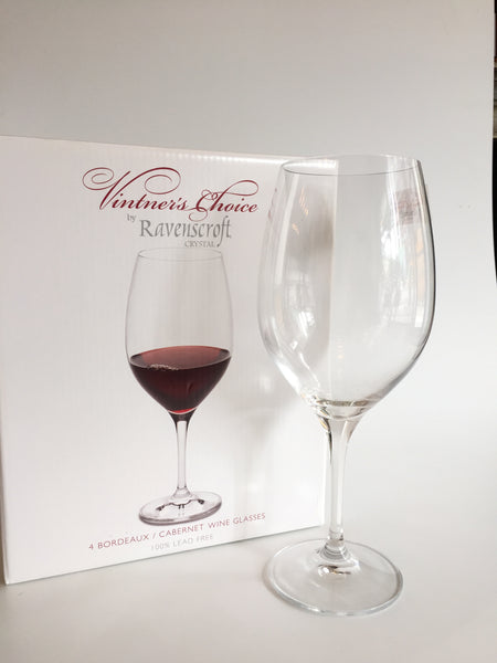4 Red Wine Glasses, Vintners Choice, Ravenscroft, 21oz
