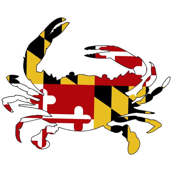 Crab -MD Flag All Weather Decal
