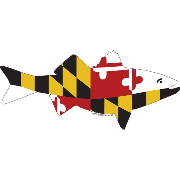Fish -MD Flag All Weather Decal
