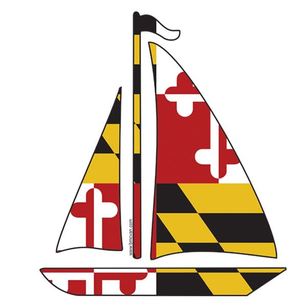 Sailboat -MD Flag All Weather Decal