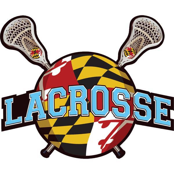 Lacrosse-MD Flag All Weather Decal