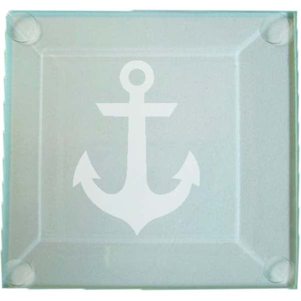 Anchor Glass Coaster