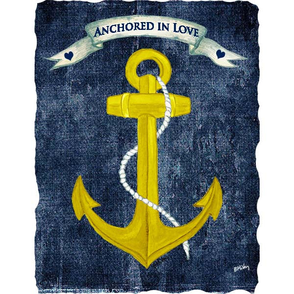 Anchored In Love Wall Art