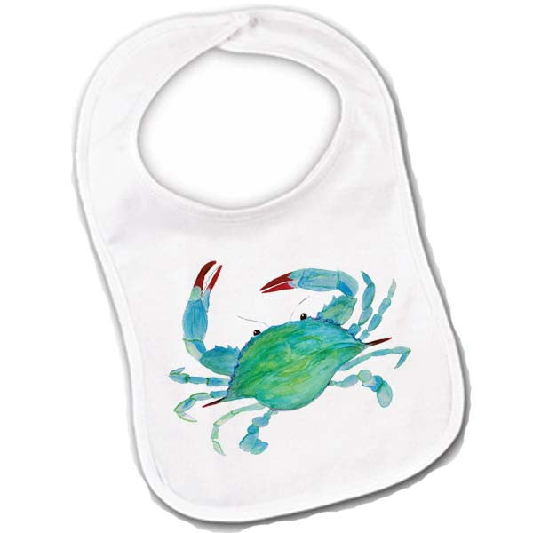 Blue Crab Baby Bib