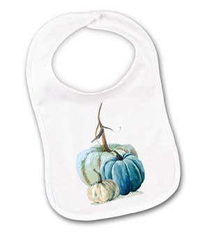 Blue Green Pumpkin Baby Bib
