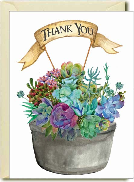 Thank you- Succulents Boxed Note Cards