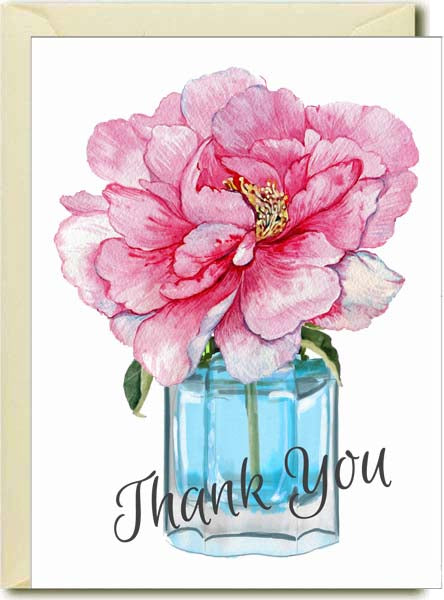 Thank you - Peony in Vase Boxed Note Cards