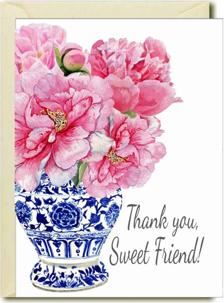 Thank you - Peony Chinoiseri Boxed Note Cards