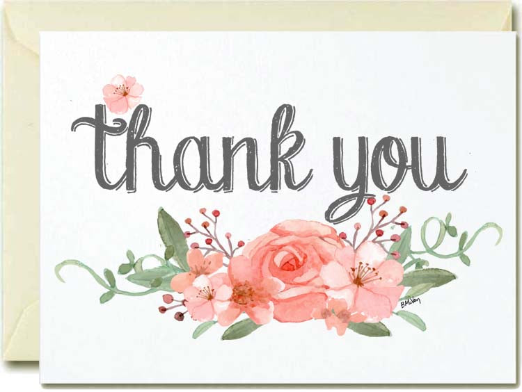 Thank You- Flowers Boxed Note Cards