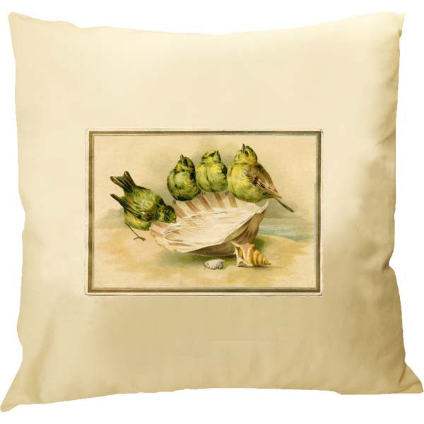 Birds on Shell Pillow