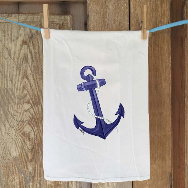 Blue Anchor Flour Sack Towel