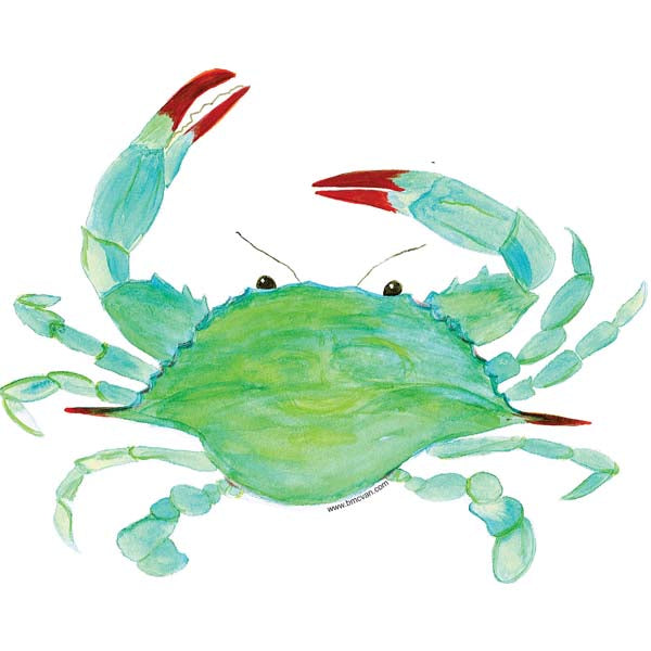 Blue Crab All Weather Decal