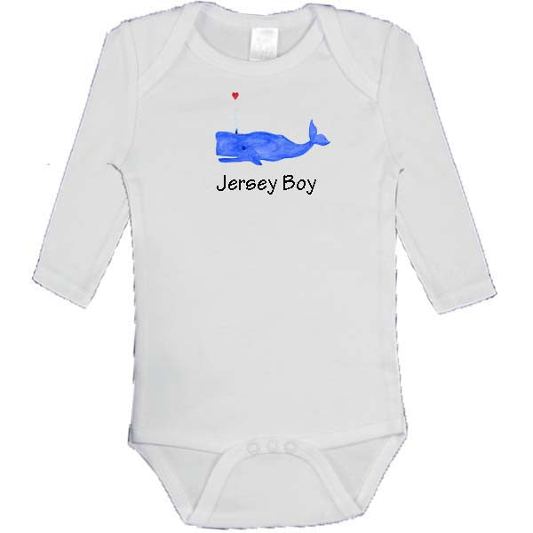 Blue Whale with Heart - Jersey Boy Onesie