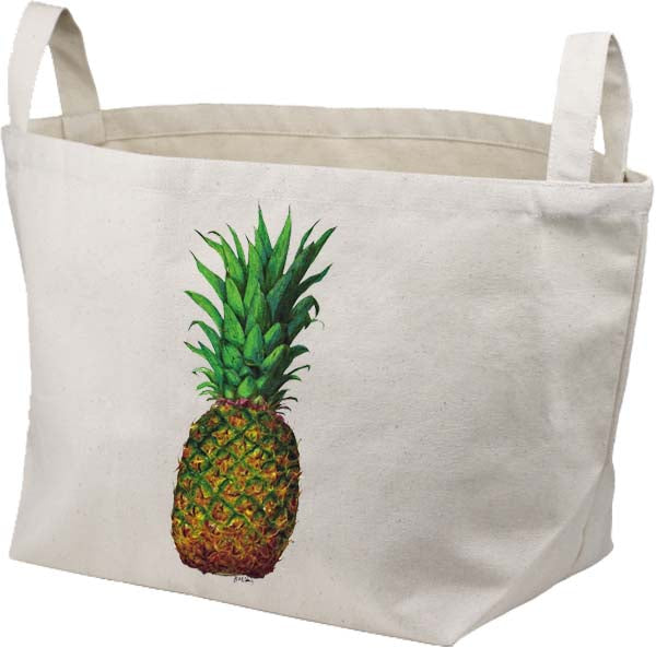 Pineapple Canvas Basket