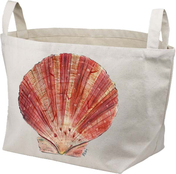 Scallop Shell Canvas Basket