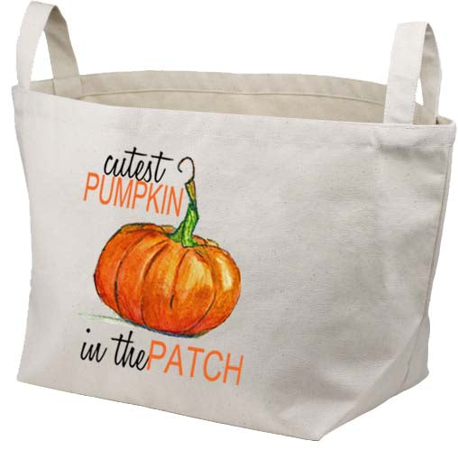 Cutest Pumpkin Canvas Basket